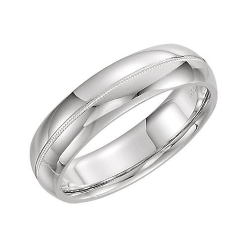 Td123864w 14k White Gold Double Milgrain 4mm Comfort Fit: Stuller 14k White Gold Comfort Fit Milgrain Wedding Band