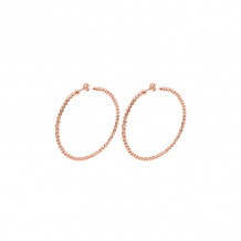 Officina Bernardi Sterling Silver Moon Hoop Earrings - 304H3PK55