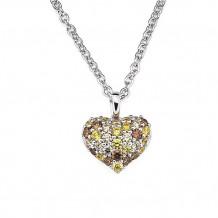 Ostbye Sterling Silver Swarovski Zirconia Heart Pendant