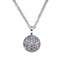 Ostbye Sterling Silver Blue, Purple, & White Swarovski Zirconia Pendant
