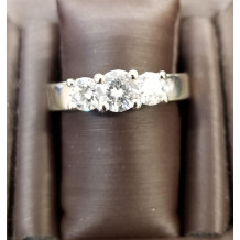 Sullivan's Estate Jewelry Three Diamond Engagment Ring