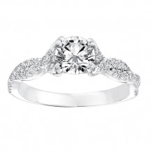 Goldman 14k White Gold 0.31ct Diamond Semi Mount Engagement Ring