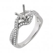 Stuller 14k White Gold Diamond Semi-mounting Open Twist Engagement Ring