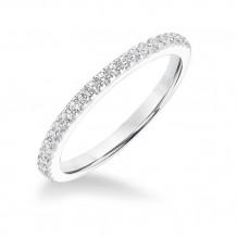 Goldman 14k White Gold 0.20ct Diamond Wedding Band