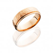 Lashbrook 14K Rose Gold 7mm Flat Wedding Band