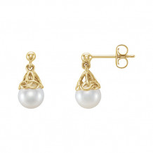 Stuller 14k Yellow Gold Pearl Earrings