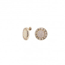 Officina Bernardi 18k Yellow Gold Senza Tempo Diamond Stud Earrings - 18GSTLDBE25GW