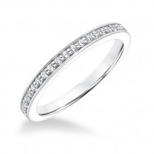 Goldman 14k White Gold 0.24ct Diamond Wedding Band