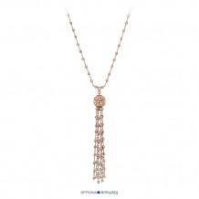 """18k Rose Gold Plated Sterling Silver Officina Bernardi Comet 30"""" Necklace"""