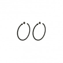 Officina Bernardi Sterling Silver Moon Hoop Earrings - 304H3B45