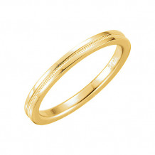 Stuller 14k Yellow Gold Flat Comfort Fit Milgrain Wedding Band