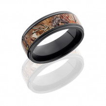 Lashbrook Zirconium with Kings Field Camo Inlay Wedding Band