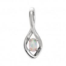 Stuller 14k White Opal Freeform Pendant