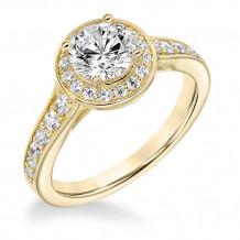 Goldman 14k Yellow Gold 0.45ct Diamond Semi Mount Engagement Ring