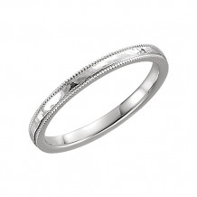 Stuller 14k White Gold Comfort Fit Wedding Band