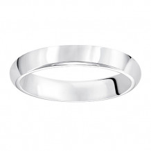 Goldman Platinum Men's 4mm High Polished Wedding Band