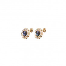 Officina Bernardi 18k Yellow Gold Senza Tempo Gemstone Stud Earrings - 18GSTSZE2GW