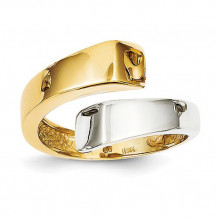 Quality Gold 14k Two-Tone Square Overlapping Ring