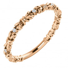 Stuller 14k Rose Gold Diamond Stackable Ring