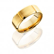 Lashbrook 14K Yellow Gold with Beveled Edges Wedding Band