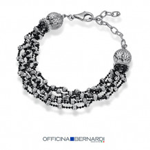 Sterling Silver with Black Rhodium Officina Bernardi Comet Bracelet