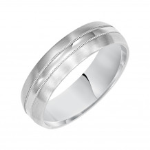 Goldman 14k White Gold Men's Wedding Band