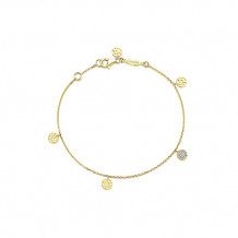 "Gabriel & Co. 14k Yellow Gold Alternating 7"" Bracelet"