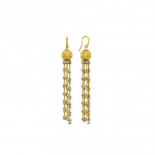 Officina Bernardi Two Tone Sterling Silver Sole Drop Earrings - COMETE11GW