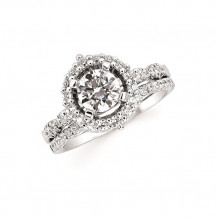 Ostbye 14k White Gold Halo Engagement Ring