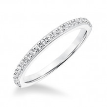 Goldman 14k White Gold 0.27ct Diamond Wedding Band