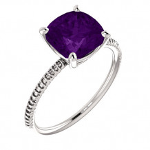 14k White Gold Stuller Amethyst Fashion Ring