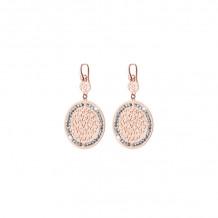 Officina Bernardi Two Tone Sterling Silver Sole Drop Earrings - SOLE-LE25PKW