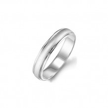 Goldman 14k White Gold Men's 4.5mm Wedding Band