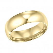 Goldman 18k Yellow Gold Men's 6mm High Polished Wedding Band