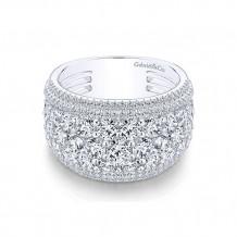 Gabriel & Co 18k White Gold Diamond Fancy Anniversary Band