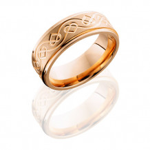 Lashbrook 14K Yellow Gold Celtic Pattern Wedding Band