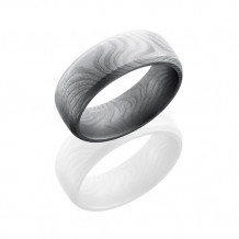 Lashbrook Damascus Steel Band With Flat twist Polish Men's Wedding Band
