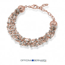 18k Rose Gold Plated Sterling Silver Officina Bernardi Comet Bracelet