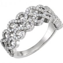 Stuller 14k White Gold Diamond Infinity-Style Ring