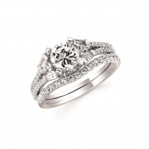 Ostbye 14k White Gold 3 Stone Engagement Ring