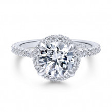 Gabriel & Co 18k White Gold Diamond Engagement Ring