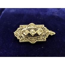 Sullivan's Estate Jewelry 14Kt White Gold and Platinum Diamond Pendant