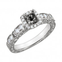 Stuller 14k White Gold Diamond Semi-mounting Engagement Ring