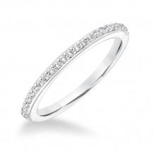 Goldman 14k White Gold 0.19ct Diamond Wedding Band