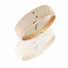 Lashbrook 14K Yellow Gold Striped Pattern with Milgrain Wedding Band