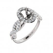 Stuller 14k White Gold 3/8ct Diamond Semi-Mount Engagement Ring