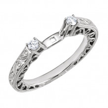Stuller 14k White Diamond Hand Engraved Engagement Ring