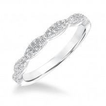 Goldman 14k White Gold 0.25ct Diamond Wedding Band