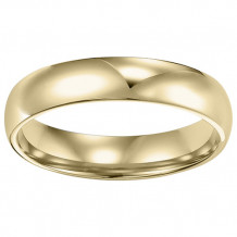Goldman 14k Yellow Gold Men's 4mm High Polished Wedding Band