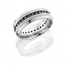 Lashbrook Platinum 8mm Black Diamond Eternity Wedding Band